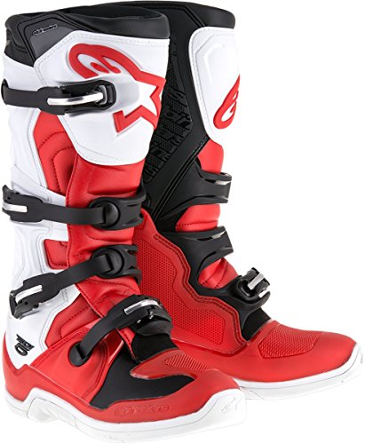Alpinestars Tech-5 Boots (10) (RED/WHITE/BLACK) ()
