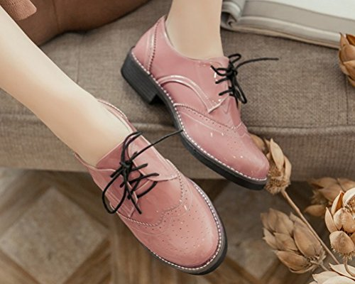 Chaussures à Femme Lacets HiTime Rose wBnxgqXw1
