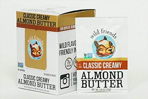 Wild Friends Classic Creamy Almond Butter Packets, 1.15 Ounce (pack Of 10)