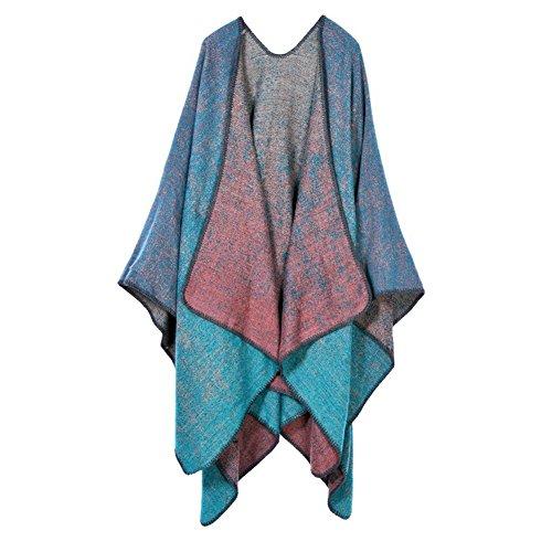 Foulard Ponche Cape PIN Femme Chale Tricot Couverture LATH Chaud 6w7AxSx