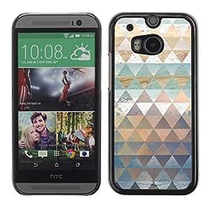 Be Good Phone Accessory // Dura Cáscara cubierta Protectora Caso Carcasa Funda de Protección para HTC One M8 // Polygon Teal Nature Pattern Pastel Water