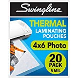 "Swingline Thermal Laminating Pouch, 4"" x 6"" Photo Size, 5 Mil, 20/Pack (3202014)"