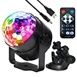 Disco Ball disco lights Strobe Lamp Stage Lights Crystal Magic Ball lighting for Birthday, Christmas, Disco, Dance, Home Party Sound Activated Remote Control for Disco Xmas KTV club Pub Show