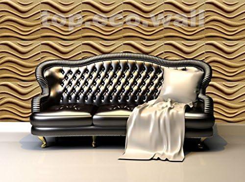 Wave 3D Wandpaneel Form Putz Wall Art Decor Dekorative Wand Fliesen Panels # 3D02