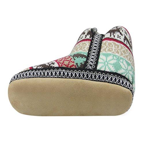 Plüsch Hausschuhe, Unisex Winter Baumwolle Pantoffeln Wärme Weiche Hausschuhe Kuschelige Home Rutschfeste Slippers für Damen Herren One Size #1