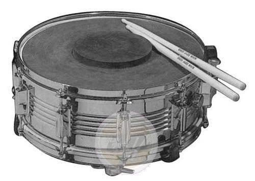 Stagg 2609 Übungspad aus Gummi 35,6 cm (14 Zoll) mit verstärktem Mitteldot