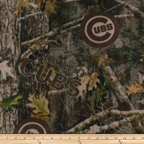 True Timber Fleece Chicago Cubs Fabric, Camo, Fabric By The Yard