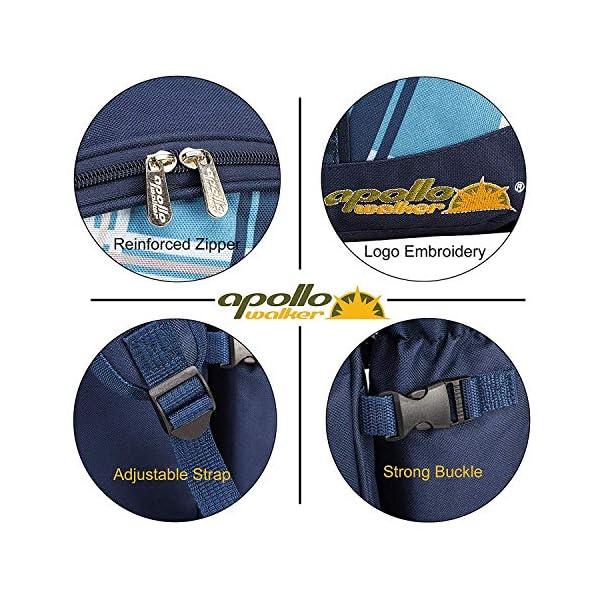 51pv2CLB 7L apollo walker Picknickrucksack für 4 Personen mit Fleece-Decke und Kühlfach (Blau)
