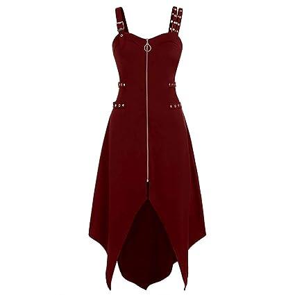 premium selection 5abb7 38e65 Vestito Donna con Collo V Profondo Manica a Campana Abito da ...