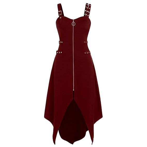 Vestido Punk para mujer, retro, vintage, gótico, steampunk, falda ...