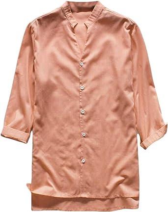 securiuu - Camiseta de Manga Corta para Hombre, Cuello en V, Estilo Hippie, Informal, para Verano 1 US L: Amazon.es: Ropa y accesorios