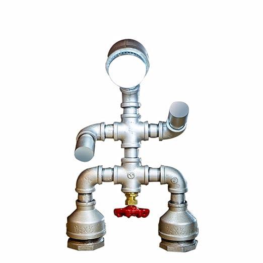 Stile industriale Pipa ad acqua lampada robot creativo ...