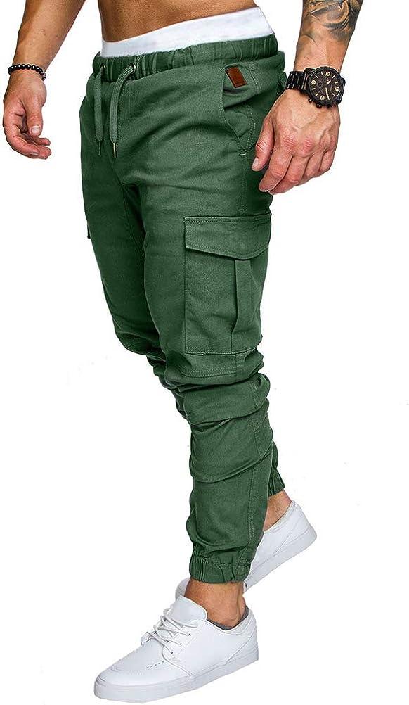 Minetom Homme Pantalons De Sport Running Training Slim Cargo Legging Jogging Fitness Gym Chino Pants Mode Casual /Ét/é Automne