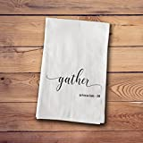 A Gift Personalized Tea Towels - Farmhouse Style - Gather