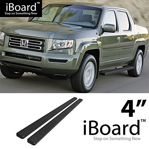 "eBoard Running Boards Black 4"" Fit 2006-2014 Honda Ridgeline Crew Cab Pickup 4-Door (Nerf Bars 