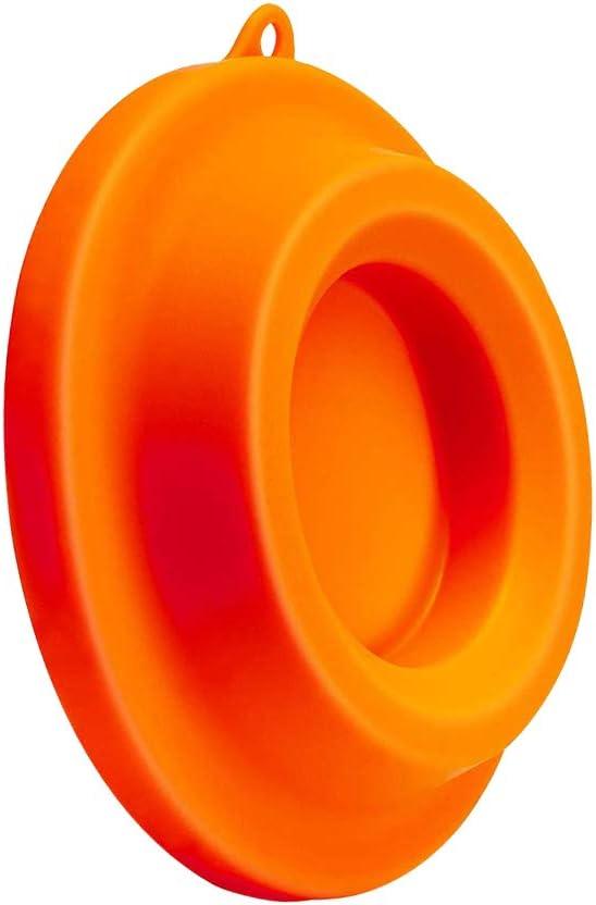 SUNERLORY Platzsparendes H/ängeloch mit Silikondeckel Einfache Verwendung Anti-Kratzer-Wohnaccessoires Halter Abdeckhalterung 5Qt 6,5Qt 8Qt Schnellkochtopf-Luftfritteuse f/ür Ninja-Lebensmittel Orange