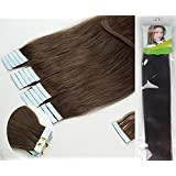 "Qianren 16"" 18"" 20"" 22"" 24"" Tape In Real Human Hair Extensions Natural Straight 100% Human Hair Beauty 19colors 20pcs in one pack"