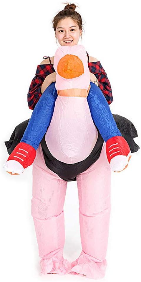 Cosplay Disfraz Avestruz Inflable Jinete Rosado Pájaro Animal ...