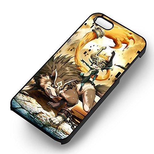 Legend Of Zelda pour Coque Iphone 6 et Coque Iphone 6s Case (Noir Boîtier en plastique dur) B8B8UX