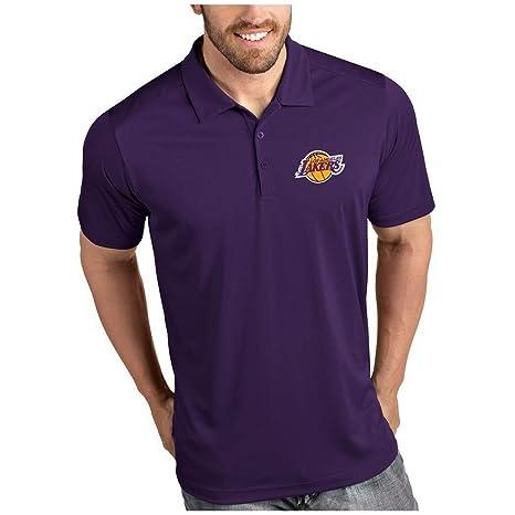 LELEShirt Playera Polo con Cuello Alto para Hombre para los Lakers ...