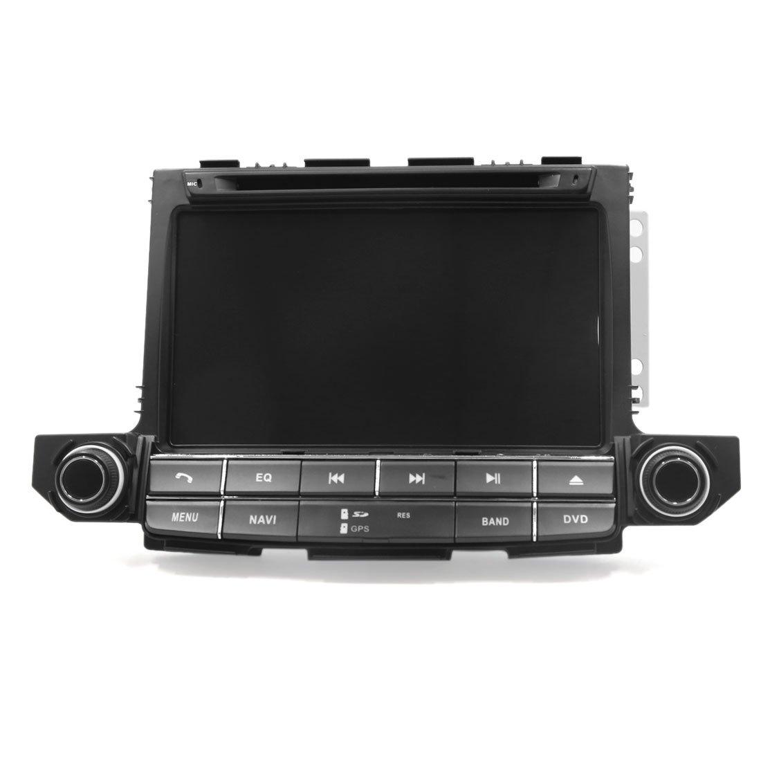uxcell 自動車GPSナビゲーション 無線 DVD プレーヤー 装飾用フレーム付き ヒュンダイ ツーソン対応 B076Q5XPYY