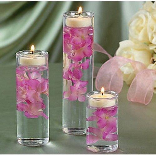 Set of 3 Glass Cylinder Tealight Holder Ceremony Vase Weddin