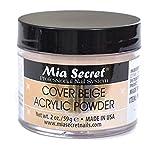 Mia Secret Cover Acrylic Powder -NUDE BLUSH /PINK /ROSE /BEIGE 0.5oz/1oz/2oz/4oz + FREE Temporary Tattoo! (2 oz, Beige)