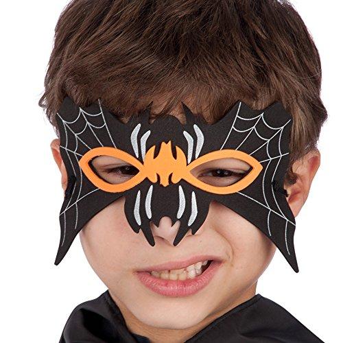 Máscara infantil para Carnaval en forma de murciélago, material: EVA - Se incluye bolsa y elástico Carnival Toys 00549