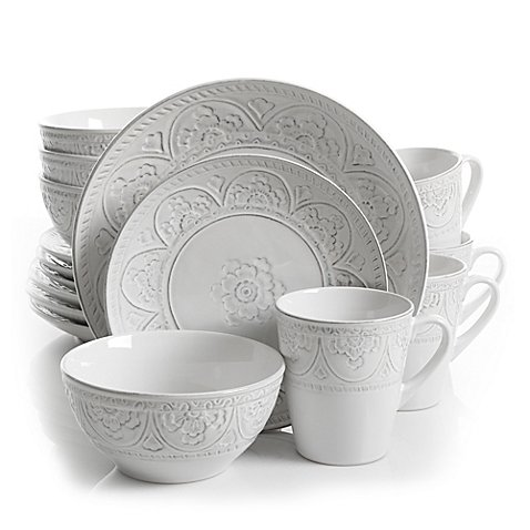 Gibson Overseas Juneau 16-Piece Dinnerware Set