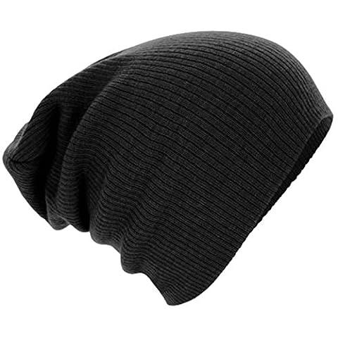 Knitted Cap,Leegor Men Women Warm Winter Knit Ski Beanie Skull Slouchy Cap Hat (Black)