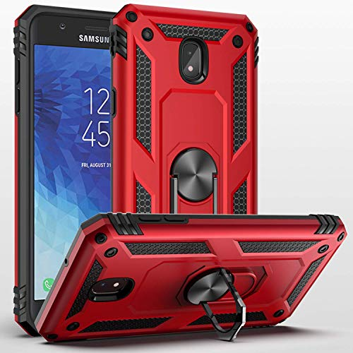 - Sfmn Ultralight, Magnetic, Ring, Military Anti-Fall Case Compatible/Replacement for Galaxy J3 2018 Case, J3 Orbit Case, J3 Achieve Case, J3 V 3rd Gen, Express Prime 3, J3 Star, Amp Prime 3 Case (Red)