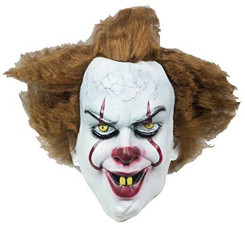 IT Scary Clown Mask Latex Halloween Party Cosplay Pennywise Facemask - It Mask