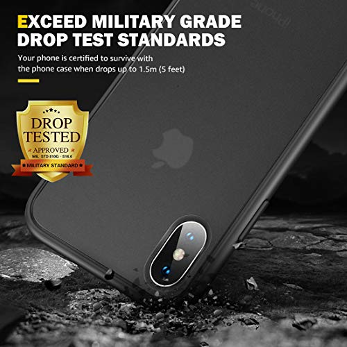 Humixx Shockproof Series iPhone Xs Case/iPhone X Case, [Military Grade Drop Tested] [Upgrading Materials] Translucent…