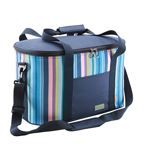 Yodo 25L Collapsible Soft Cooler Bag - Family Size Roomy for Reunion, Party, Beach, Picnics, Sporting Music Events, Everyday Meals to Work