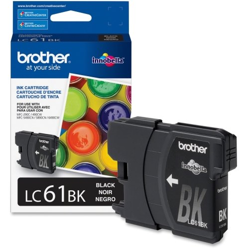 - Brother Innobella LC61BK Standard Yield Black Ink Cartridge - Black - Inkjet - 450 Page - 1 Each