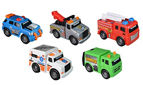 Toy Vehicles (Toy State Mini City Service Vehicles (5)