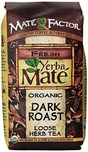 (The Mate Factor Yerba Mate Energizing Mate & Grain Beverage, Dark Roast, 12 Ounce)