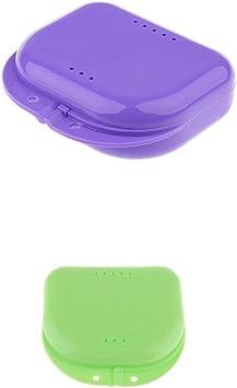 Bonarty 2 Unids Estuche de Dentadura Caja de Plástico para Ortodoncia Den tal Retenedores Den tales: Amazon.es: Salud y cuidado personal