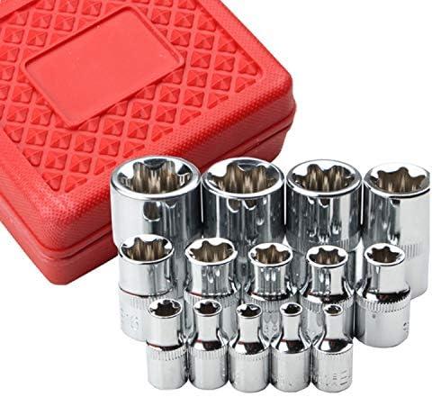 Kombinationsschlüssel 14-teiliges Set Autoreparaturwerkzeuge E Typ 6 Blumenkopf E4-24mm,Einfach zu bedienen