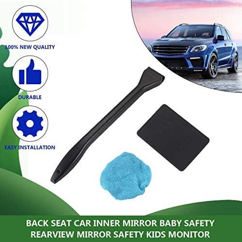 ポータブルプラスチック製のフロントガラスイージークリーナーイージーマイクロファイバークリーン車や自宅の届きにくい窓-ブラック