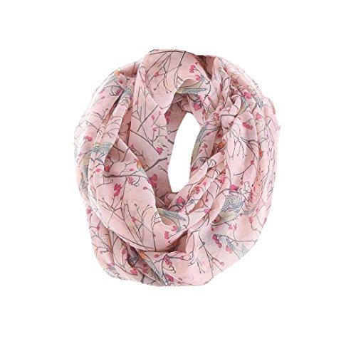 della di dell'involucro di Sciarpa stampa Sciarpe delle sciarpe sciarpa voile donne scialle di eleganti multifunzionali rosa Adeshop moda di di 0ITwTdfx