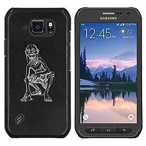 """Be-Star Único Patrón Plástico Duro Fundas Cover Cubre Hard Case Cover Para Samsung Galaxy S6 active / SM-G890 (NOT S6) ( Divertido de Gollu Cueva Anillo Monster"""" )"""