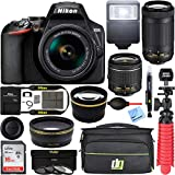 Nikon D3500 24.2MP DSLR Camera with AF-P 18-55mm VR Lens & 70-300mm Dual