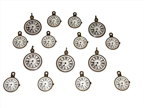 15 Pack of Steampunk Style Pocket Watch Charms from Old School Geekery TM (Watch Charms Charm)