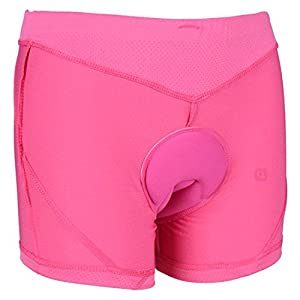 voofly Women's Bike Underwear Gel 3D Padded Bicycle Cycling Shorts Underpants Pink Large