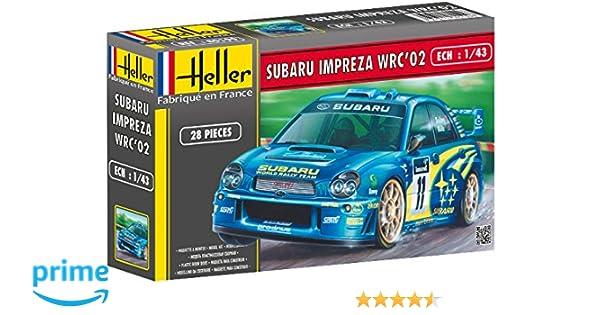 Glow2B Heller - 80199 - Maqueta para construir - Subaru Impreza Wrc 02 - 1/43: Amazon.es: Juguetes y juegos