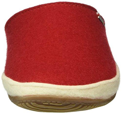 Living Kitzbühel Pantoffel Mit Weißen Filzrand - Zapatilla de estar por casa Mujer Rojo - Rot (Rot 350)