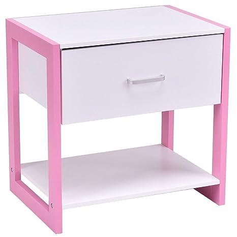 Amazon.com: Giantex mesita de noche mesa auxiliar muebles ...