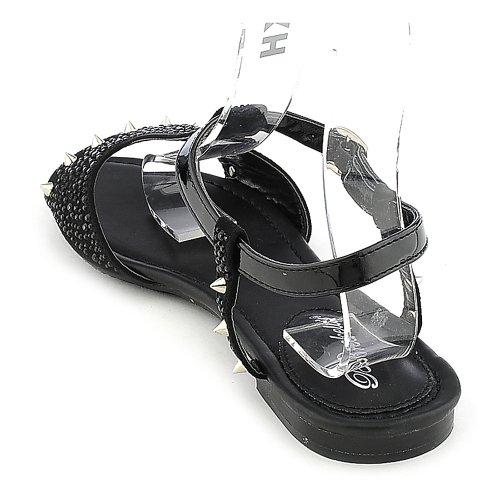 Sandalo Donna Deena-01 Breckelles - Nero Taglia 6