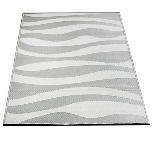 Yankee Trader 4' X 6' Indoor/Outdoor Decorative Reversible Patio Carpet Rug, Pattern 16 by Yankee Trader